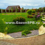 Укладка рулонного газона в г. Гатчина